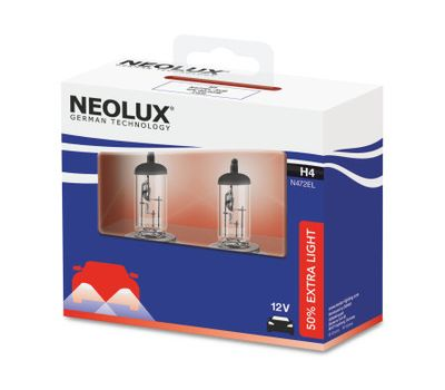 NEOLUX H4 Extra Light N472EL-2SCB (2 шт), фото 1