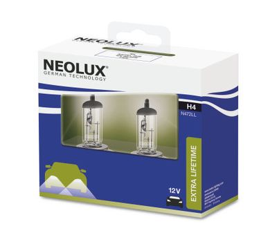 NEOLUX H4  EXTRA LIFE TIME N472LL-2SCB (2 шт), фото 1