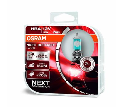 HB4 OSRAM NIGHT BREAKER® LASER 9006NL - HCB (2 шт), фото 1