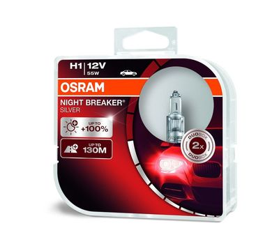 H1 OSRAM NIGHT BREAKER® SILVER 64150NBS-HCB (2 шт), фото 1